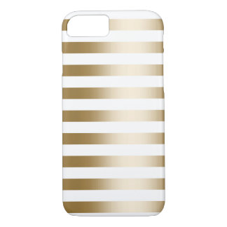 Simple Gold Stripes iPhone 7 Case