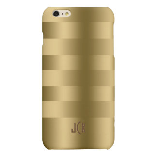 Simple Gold Stripes Pattern iPhone 6 Plus Case