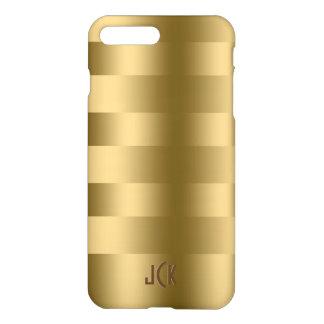 Simple Gold Stripes Pattern iPhone 8 Plus/7 Plus Case