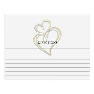 Simple Gold Swirl Hearts Recipe Cards Postcard