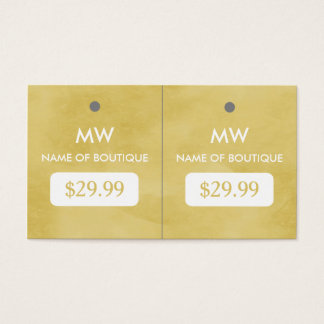 Simple Goldenrod Chic Boutique Monogram Hang Tags