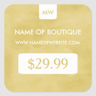 Simple Goldenrod Chic Boutique Monogram Price Tags