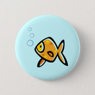 Simple Goldfish 6 Cm Round Badge