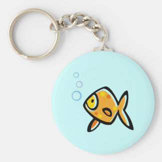 Simple Goldfish Key Ring
