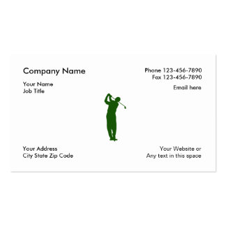 Simple Golf Business Cards
