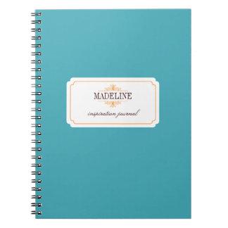 Simple grace orange teal blue inspiration journal