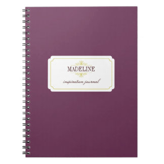 Simple grace purple green inspiration journal