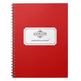 Simple grace red black custom inspiration journal