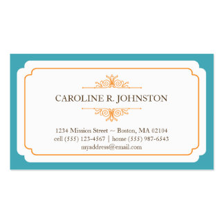 Simple grace solid teal frame personal calling pack of standard business cards