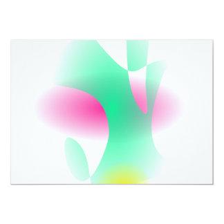 Simple Graded Abstract Art 13 Cm X 18 Cm Invitation Card