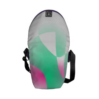 Simple Graded Abstract Art Messenger Bags