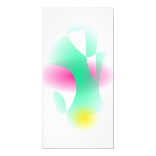 Simple Graded Abstract Art Custom Photo Card