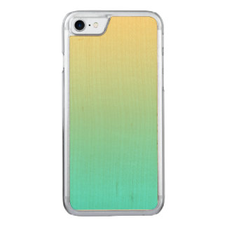 Simple Gradient Pastel Yellow Turquoise Carved iPhone 8/7 Case