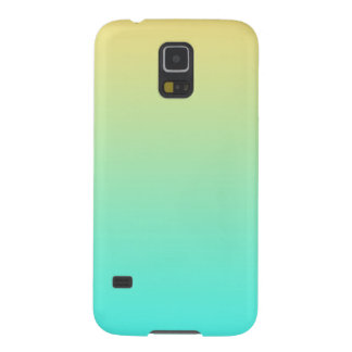 Simple Gradient Pastel Yellow Turquoise Case For Galaxy S5