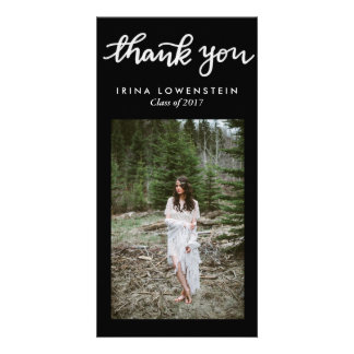 Simple Graduate Handwritten Thank You Picture Card