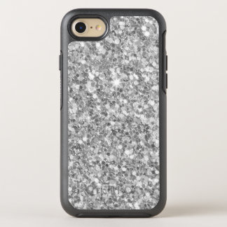 Simple Gray And White Glitter OtterBox Symmetry iPhone 8/7 Case