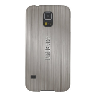 Simple Gray Brushed Aluminum look Cases For Galaxy S5