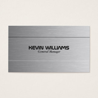 Simple Gray Metallic Texture Print Business Card