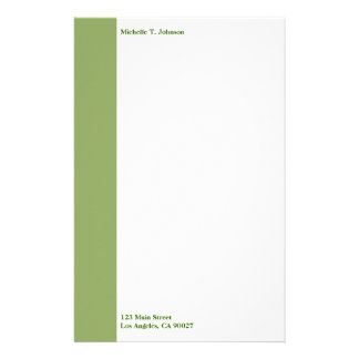 simple green border stationery