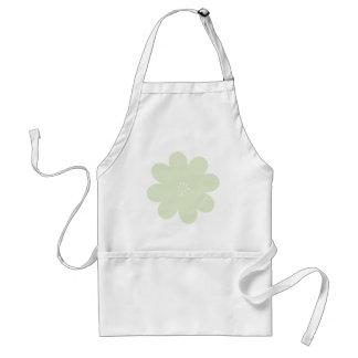 Simple Green Flower Standard Apron