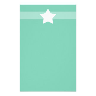 Simple green star Stationary Stationery