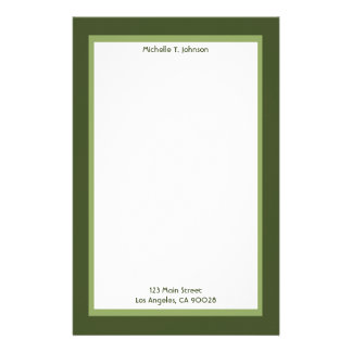 simple green stationery