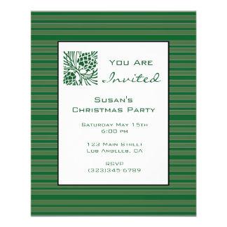 Simple Green Stripe Christmas 11.5 Cm X 14 Cm Flyer