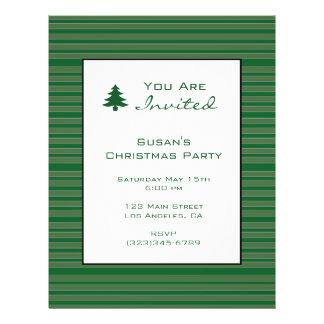Simple Green Stripe Christmas 21.5 Cm X 28 Cm Flyer