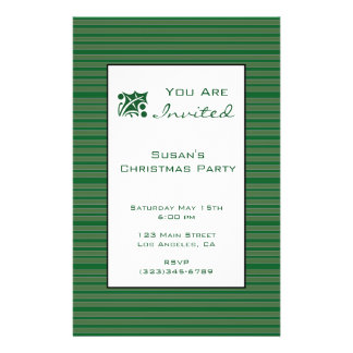 Simple Green Stripe Christmas Full Color Flyer