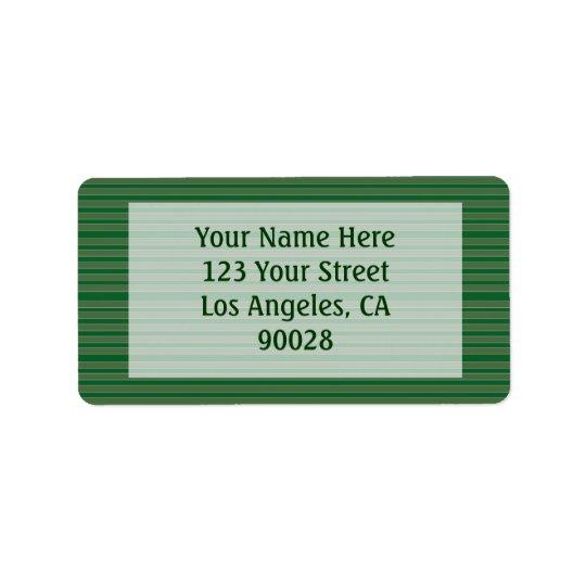 Simple Green Stripes Address Label