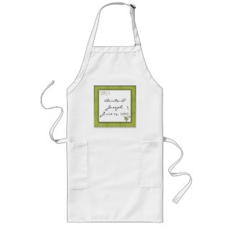 Simple Green Wedding Design Long Apron