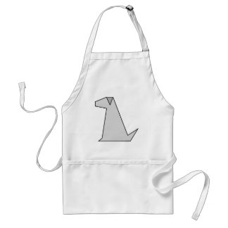 Simple Grey Dog Aprons