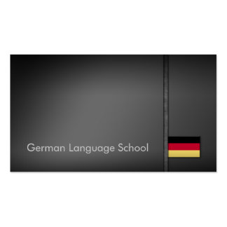 Simple Grey German Language School Business Card