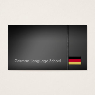 Simple Grey German Language School Business Card