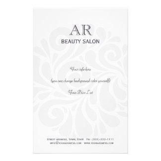 Simple Grey Hair Stylist Beauty Salon Price List Custom Flyer