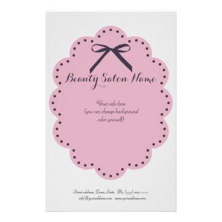 Simple Grey Hair Stylist/Cosmetologist Price List Flyer Design