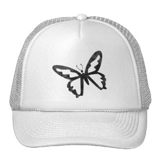 Simple Grungy Black Butterfly Mesh Hat