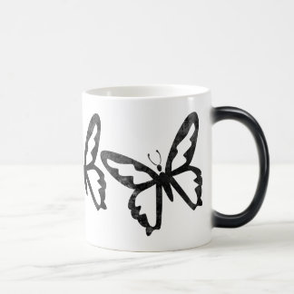Simple Grungy Black Butterfly Coffee Mug