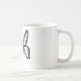 Simple Grungy Black Butterfly Mugs