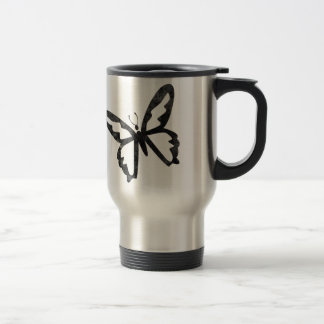 Simple Grungy Black Butterfly Coffee Mugs