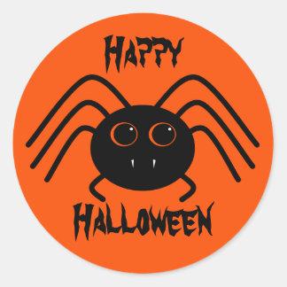 Simple Halloween spider Classic Round Sticker