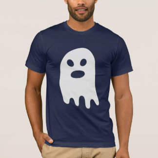 Simple Halloween White Ghost T-Shirt