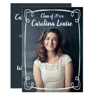 Simple Hand Drawn Swirly Frame Graduation Card