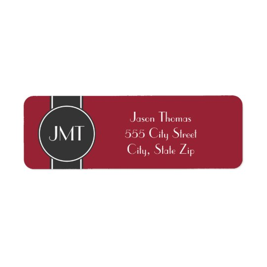 Simple Handsome Monogram Black and Red