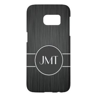Simple Handsome Monogram Black Faux Metal