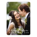 Simple Handwriting   Wedding Photo Thank You Card 13 Cm X 18 Cm Invitation Card
