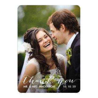 Simple Handwriting   Wedding Photo Thank You Card Custom Invites