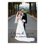 Simple Handwriting Wedding Thank You Card