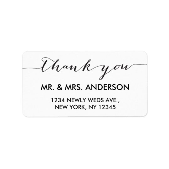 Simple Handwriting Wedding Thank You Label