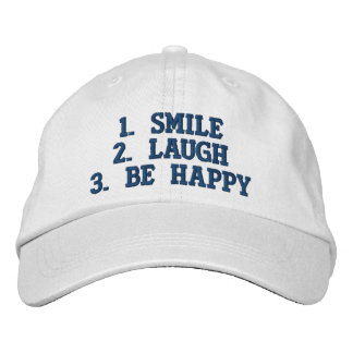 Simple Happiness Steps Embroidered Hats